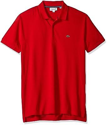 Lacoste Hombre PH6202-51 Manga Corta Camisa Polo - Rojo - Large ...