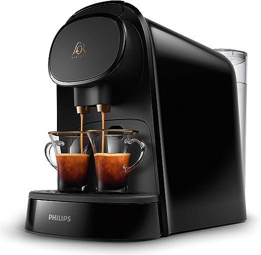 Philips LOR LM8012/60 Barista - Cafetera compatible con cápsula individual/doble, 19 bares presión, depósito 1L, color negro: Amazon.es: Hogar