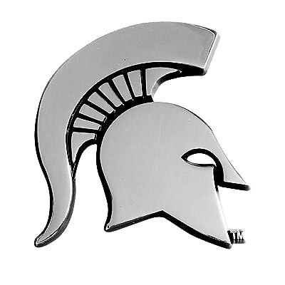 FANMATS NCAA Michigan State University Spartans Chrome Team Emblem: Automotive