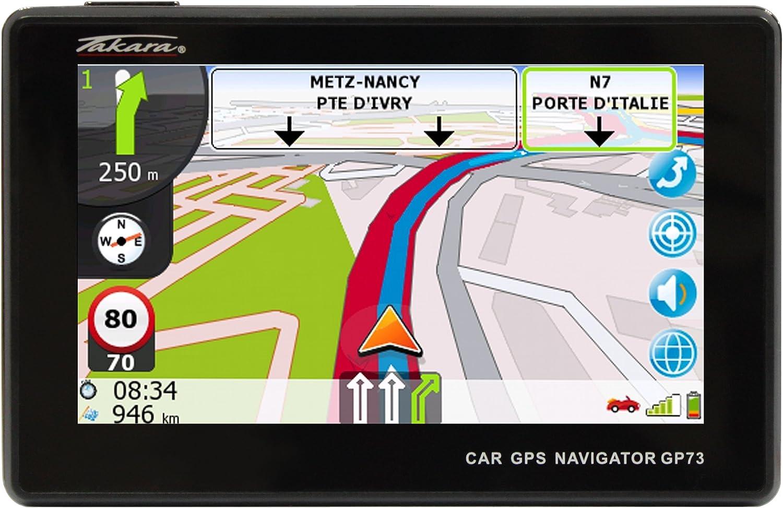 Takara GP73BCAV - Navegador GPS para coche (mapas de Europa ...