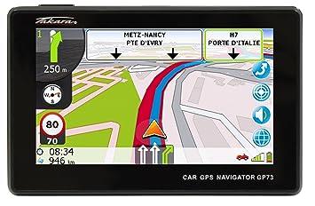 Takara GP73BCAV - Navegador GPS para coche (mapas de Europa Occidental, pantalla de 4