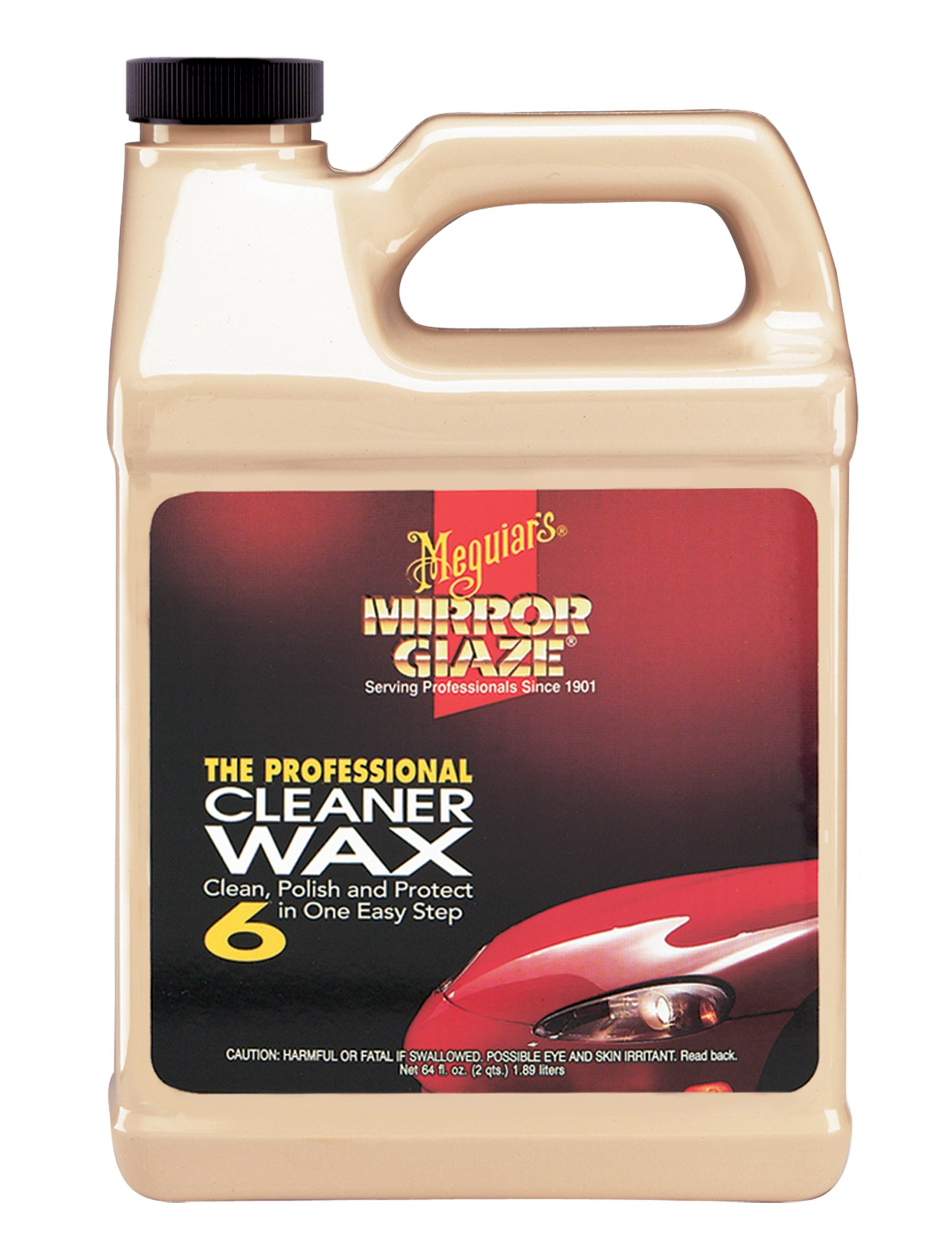 Meguiar's M0664 Mirror Glaze Cleaner Wax, 64. Fluid_Ounces