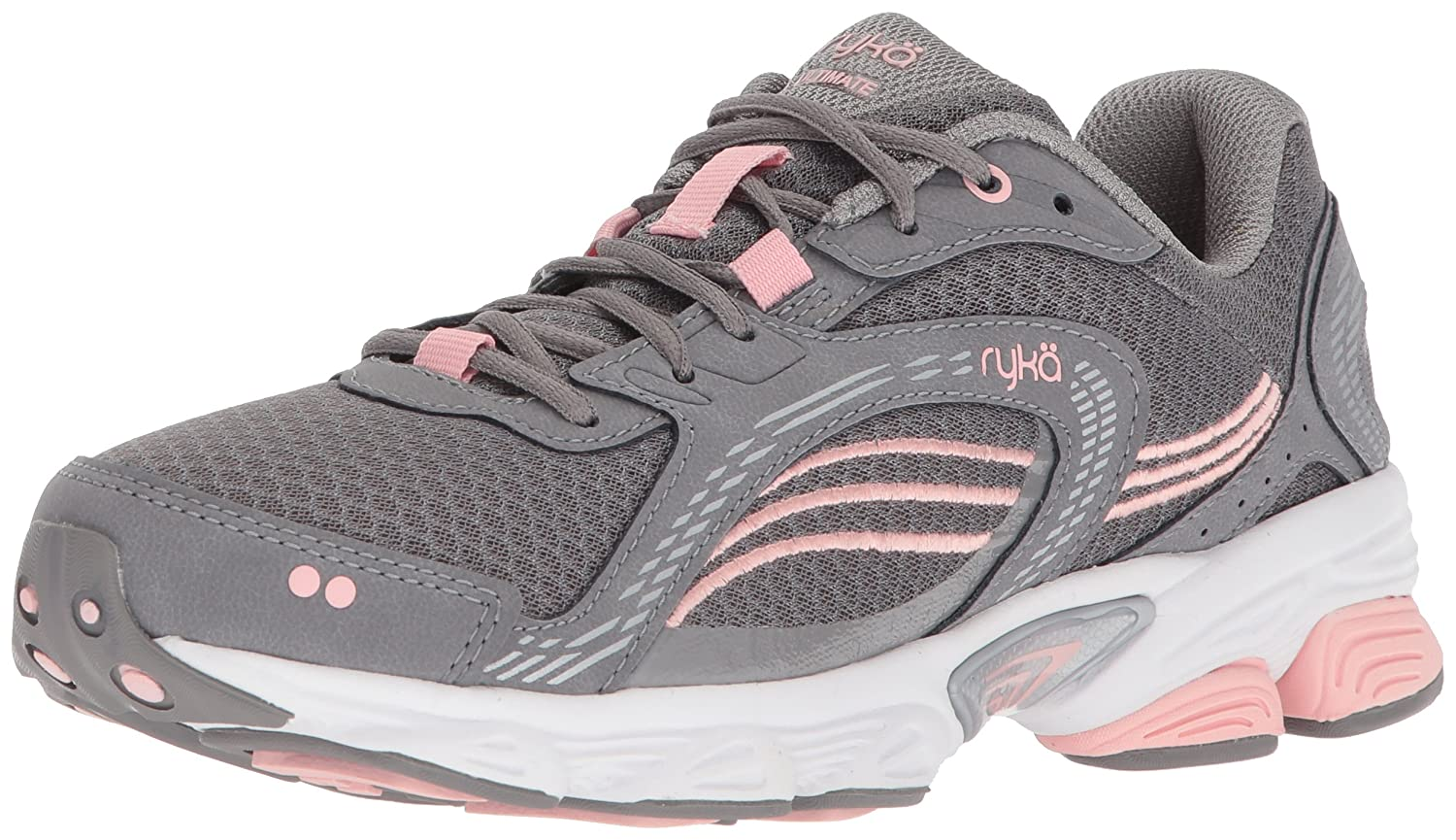Ryka Women's Ultimate Running Shoe B0757CXCBY 11 W US|Frost Grey/English Rose/Chrome Silver