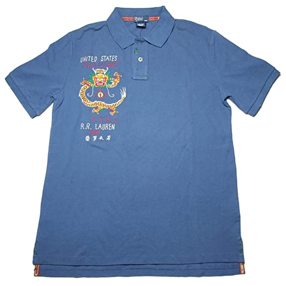A0040 Polo Ralph Lauren niño manga corta Kids Azul turquesa ...