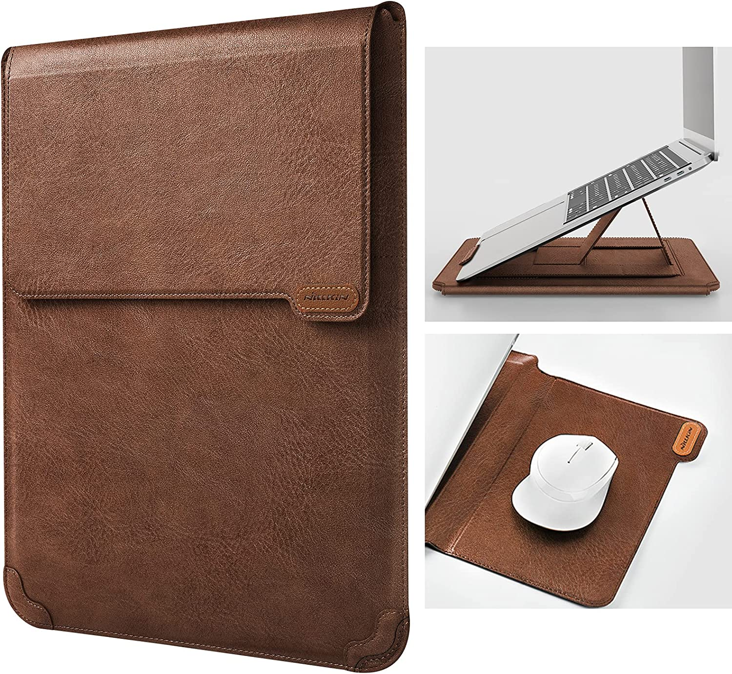 Nillkin 13 inch Laptop Sleeve Case Laptop Stand Adjustable, Computer Shock Resistant Bag with Mouse Pad for 13