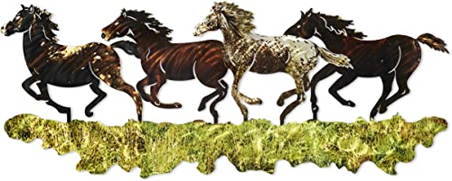 Next Innovations Horse Shaped Metal Wall Art D cor Large Stampede
