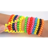 SWIRLY BANDS 10 pack - Fidgeting, ADHD, Autism, Anxiety Toy - Sensory and Motor Aid Spectrum Mild Chew Bracelet Autistic