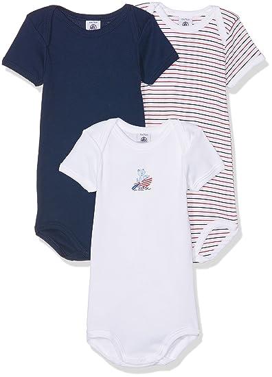 Petit Bateau Camiseta Unisex bebé (Pack de 3): Amazon.es: Ropa y accesorios