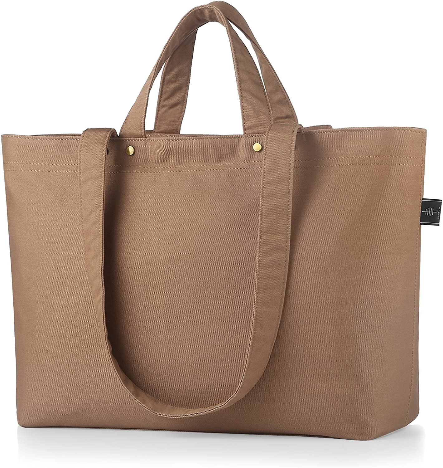 Womens Strong Large Canvas Tote Bags Shoulder Hand Bag for Shopping Work Books and Much More