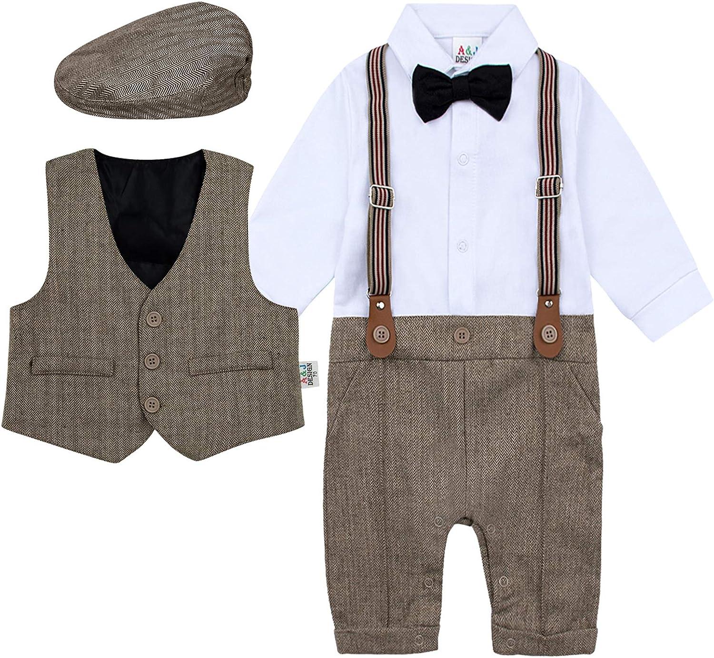 MOMBIY Baby Jungen Strampler Anzug Infant Gentleman Formale Baumwolle Hosentr/äger Strap Shorts Outfits Sets Sommer Kurzarm /Ärmeln Polo Shirt