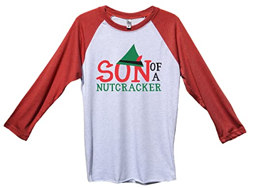 "83073c250 Amazon.com: Funny Christmas Baseball ""Son Of A Nutcracker"" Funny Baseball  Tee Gift: Clothing"