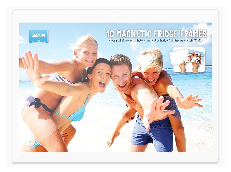 BULK BUY - Pack of 10 magnetic photo fridge frames clear 4x6