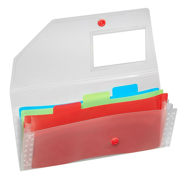 2bc674b769c7 Snopake 15769 Expanding Organiser File - Rainbow: Amazon.co.uk ...