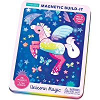 Mudpuppy Unicorn Magic Magnetic Build-It – Ages 4+ - Magnetic Play Set with 4 Backgrounds, 30+ Magnets - Build…