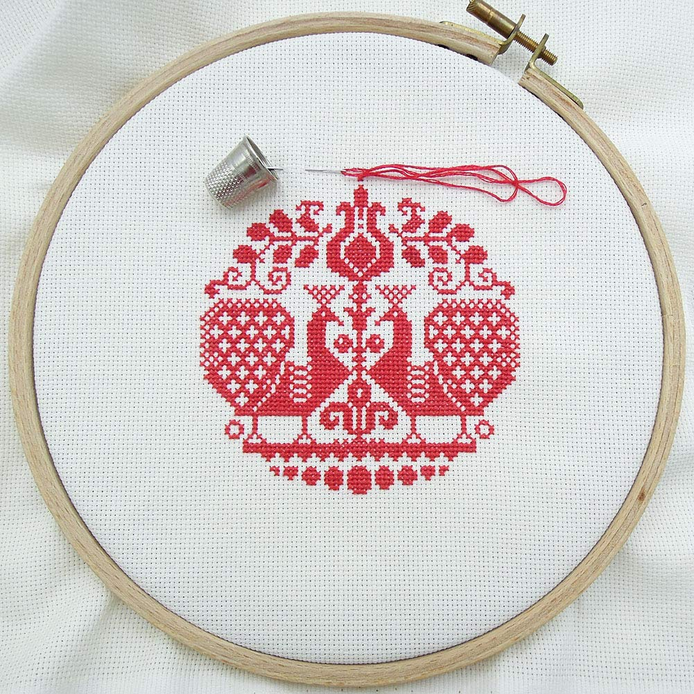 Gaosaili 14 Count Big Size Classic White Cross Stitch Fabric DIY Small Cotton Embroidered Cotton Aida Cloth,59 x 39 Inch