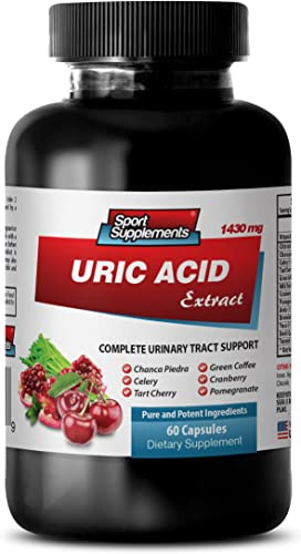 antioxidant Extreme – URIC Acid Formula Extract 1430Mg – Urinary Flush and Support with Cranberry – 1 Bottle 60 Capsules