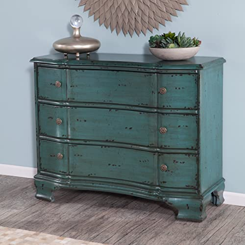 Stein World Furniture Ilana Accent Chest, Vintage Turquoise Blue