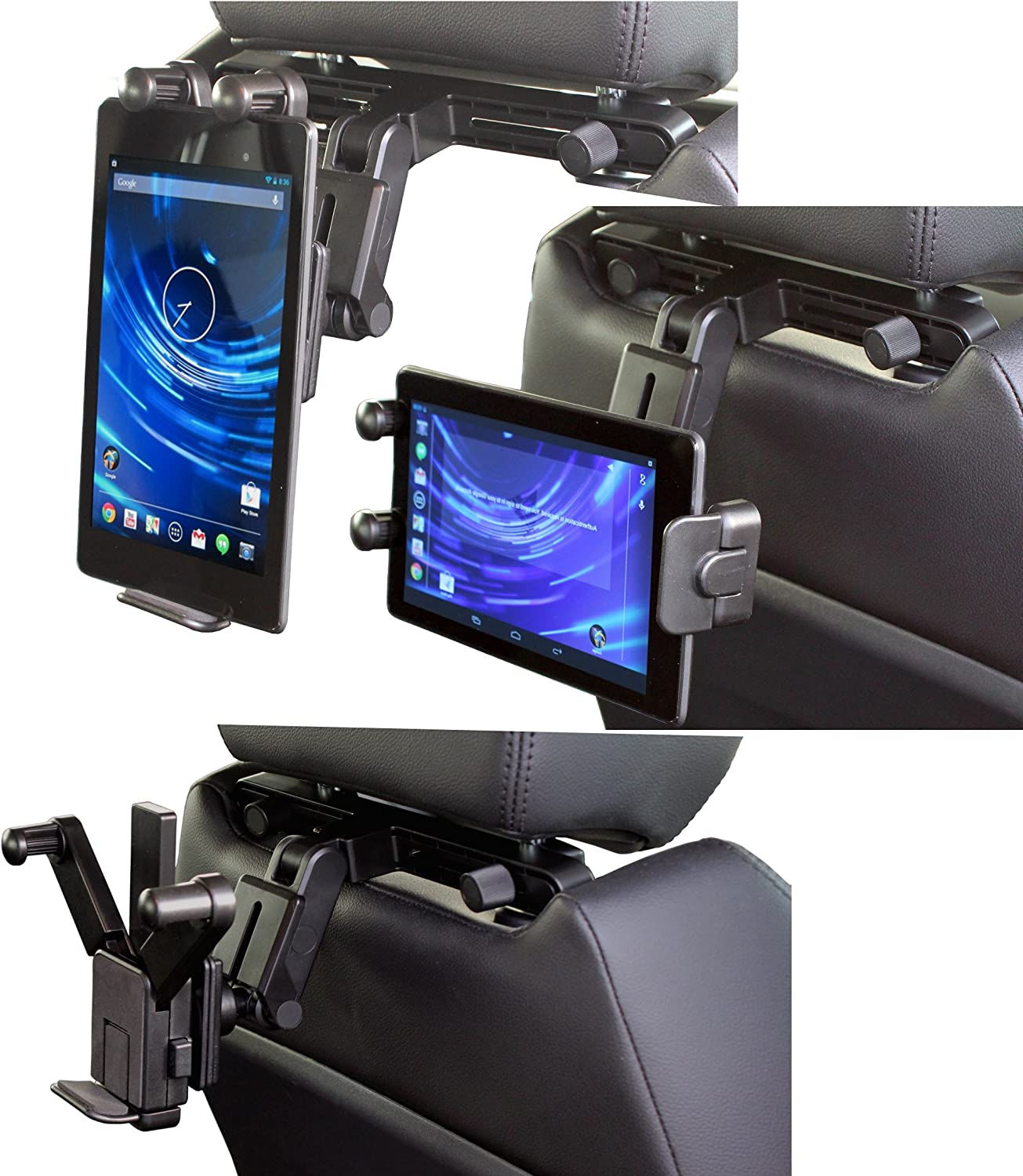 Navitech in-Car Easy Fit Back of Seat Head Rest Mount Compatible with The Tablets and e-Readers Including Kids Tablets Such As: Acer Iconia W510, W700, A200, A700, M500, A100, A500, A1 Liquid