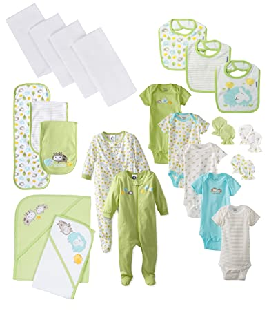 639e0c700 Image Unavailable. Image not available for. Color: Gerber Unisex-Baby  Adorable Farm Animals 22-Piece Essentials Gift Set