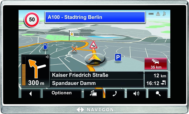 West /& Osteuropa , TMC Pro, Bluetooth, Real City 3D, Voice Interaction Pro Display 5 Zoll 40 L/änder NAVIGON 8410 Navigationssystem 12,7 cm