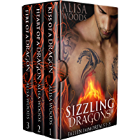 Sizzling Dragons Box Set (Books 1-3: Fallen Immortals)—Dragon Shifter Paranormal Romance