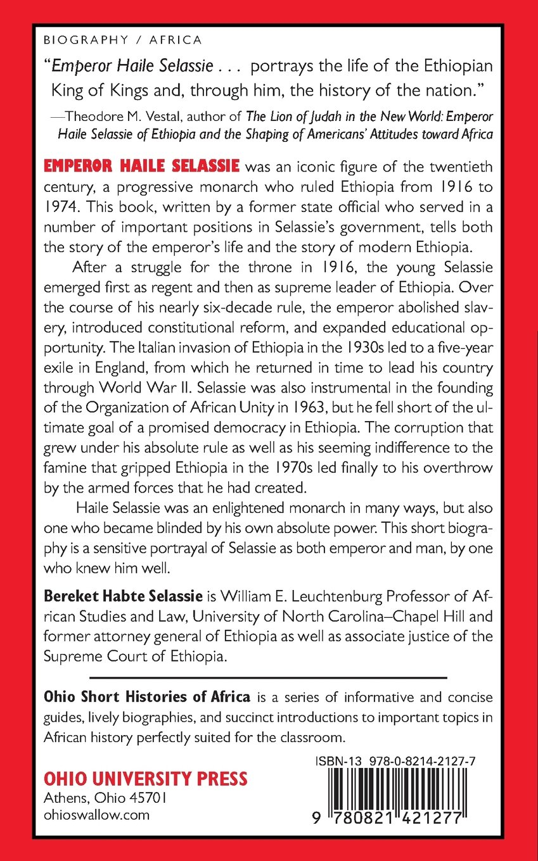 Emperor haile selassie ohio short histories of africa bereket habte selassie 9780821421277 amazon com books