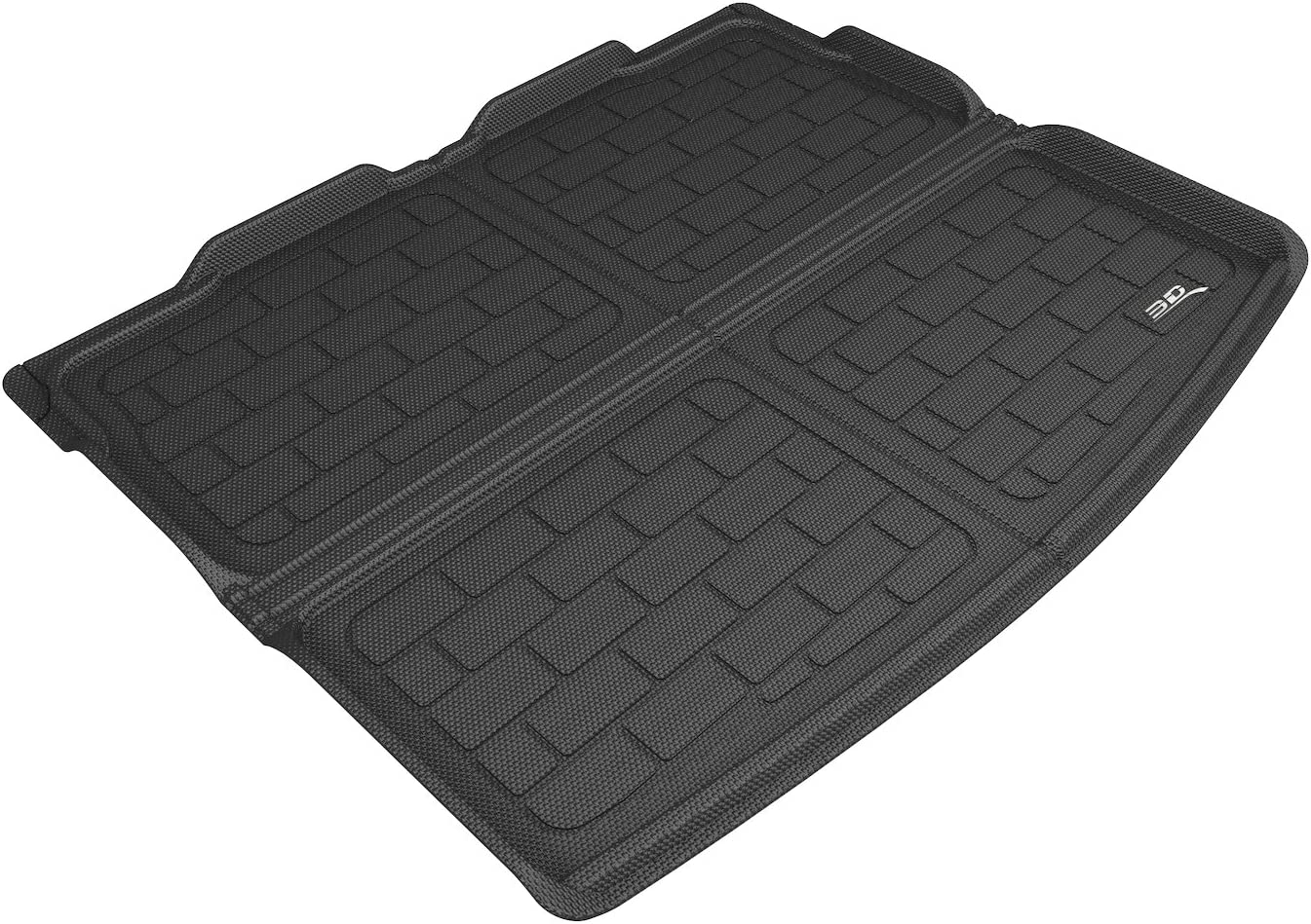 3D MAXpider M1JP0161309 Cargo Custom Fit All-Floor Mat for Select Jeep Compass Models-Kagu Rubber Black