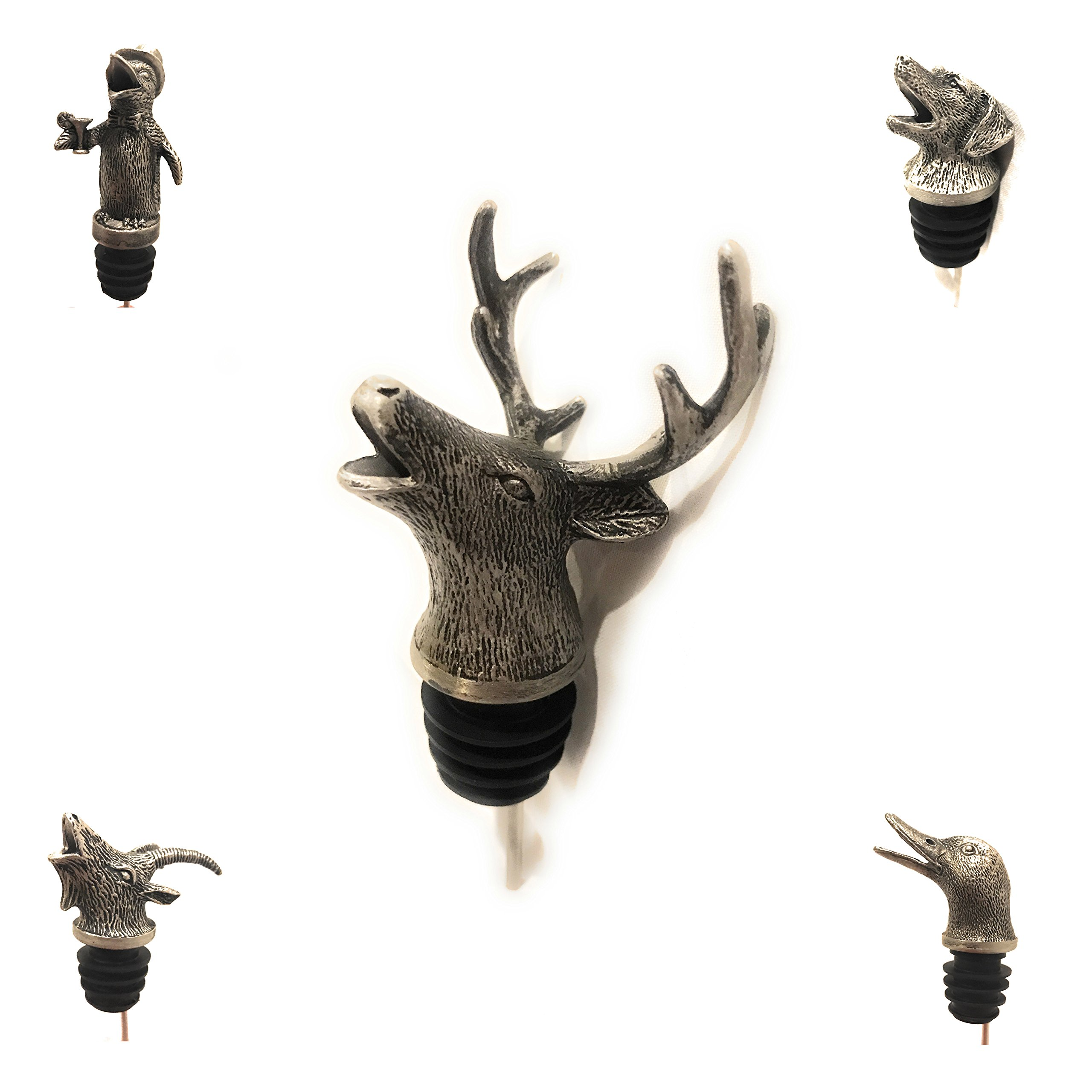 The Wildly Refined Collection Stainless Steel Wine Aerator & Liquor Pourer (Deer)