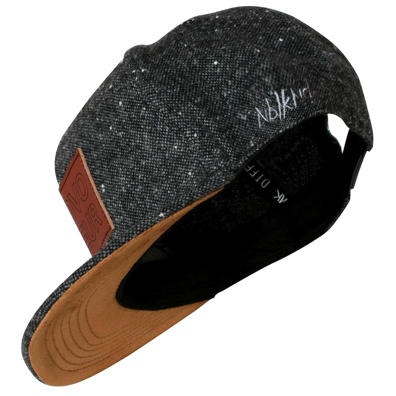 Nebelkind Unisex Snapback Cap Provocateur Lederpatch Kappe Grau One Size SB-PRSB