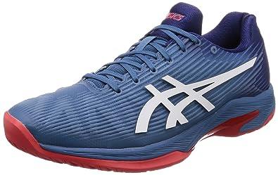 Asics Men s Solution Speed Ff Tennis Shoes Azure White 12.5 D(M) US ... b44d7b67abce3