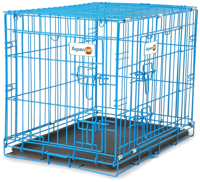 bluee Aspen Pet Puppy 2 Door Training Retreat 24-Inch bluee