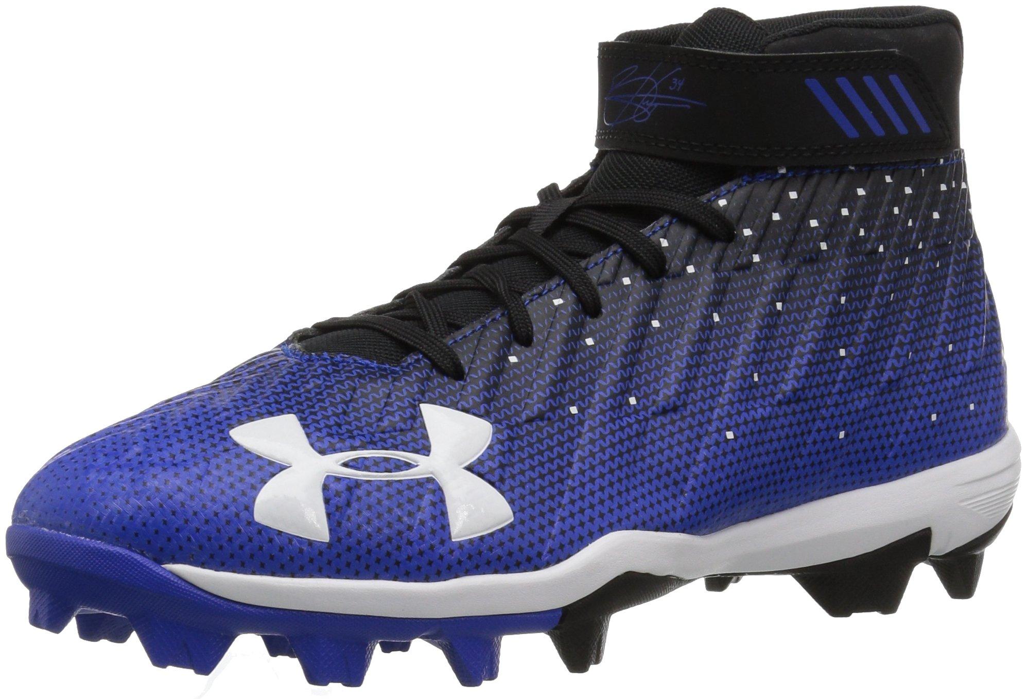 Under Armour Boys' Harper 2 Jr. RM Baseball Shoe, Black (041)/Team Royal, 2