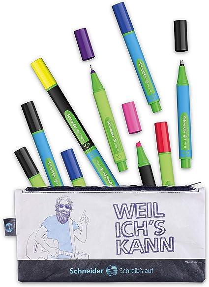 Schneider - Estuche con lápices Link-It (rotuladores, rotuladores, bolígrafos, estuche sostenible): Amazon.es: Oficina y papelería