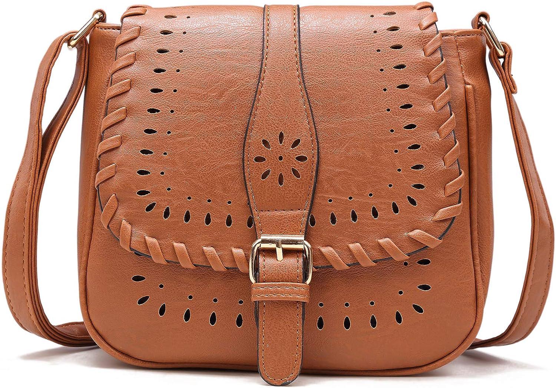 Forestfish Ladies Vintage Hollow Crossbody Bag Shoulder Bag Purse with Adjustable Shoulder Strape