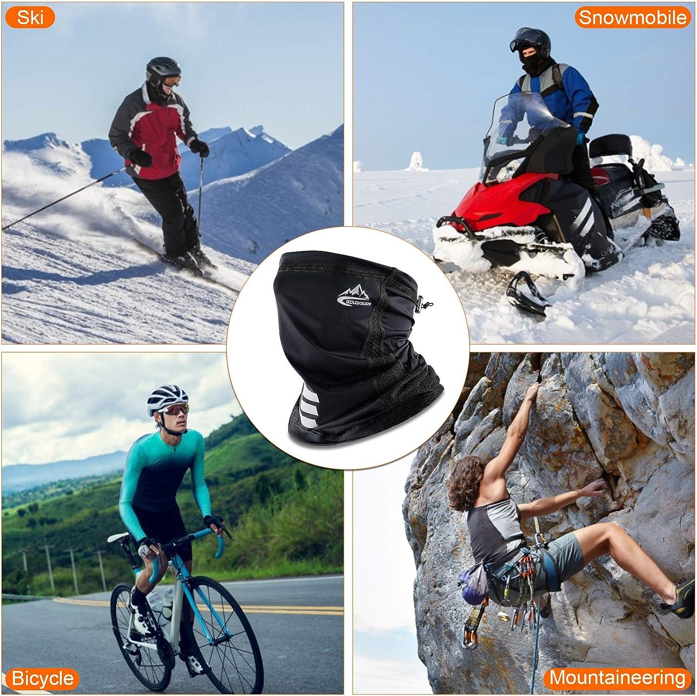 Mascherina Sportiva Scalda Naso Leggero Scaldacollo Cotone Traspirante per Sci Snowboard Ciclismo Scaldacollo Moto Uomo Invernale Pile Termico Bandana Sottocasco Moto Bici Antivento Multifunzionale