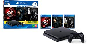 Console PlayStation 4 1TB Bundle Hits 10 - Death Stranding, The Last Of Us, Gran Turismo Sport - PlayStation 4