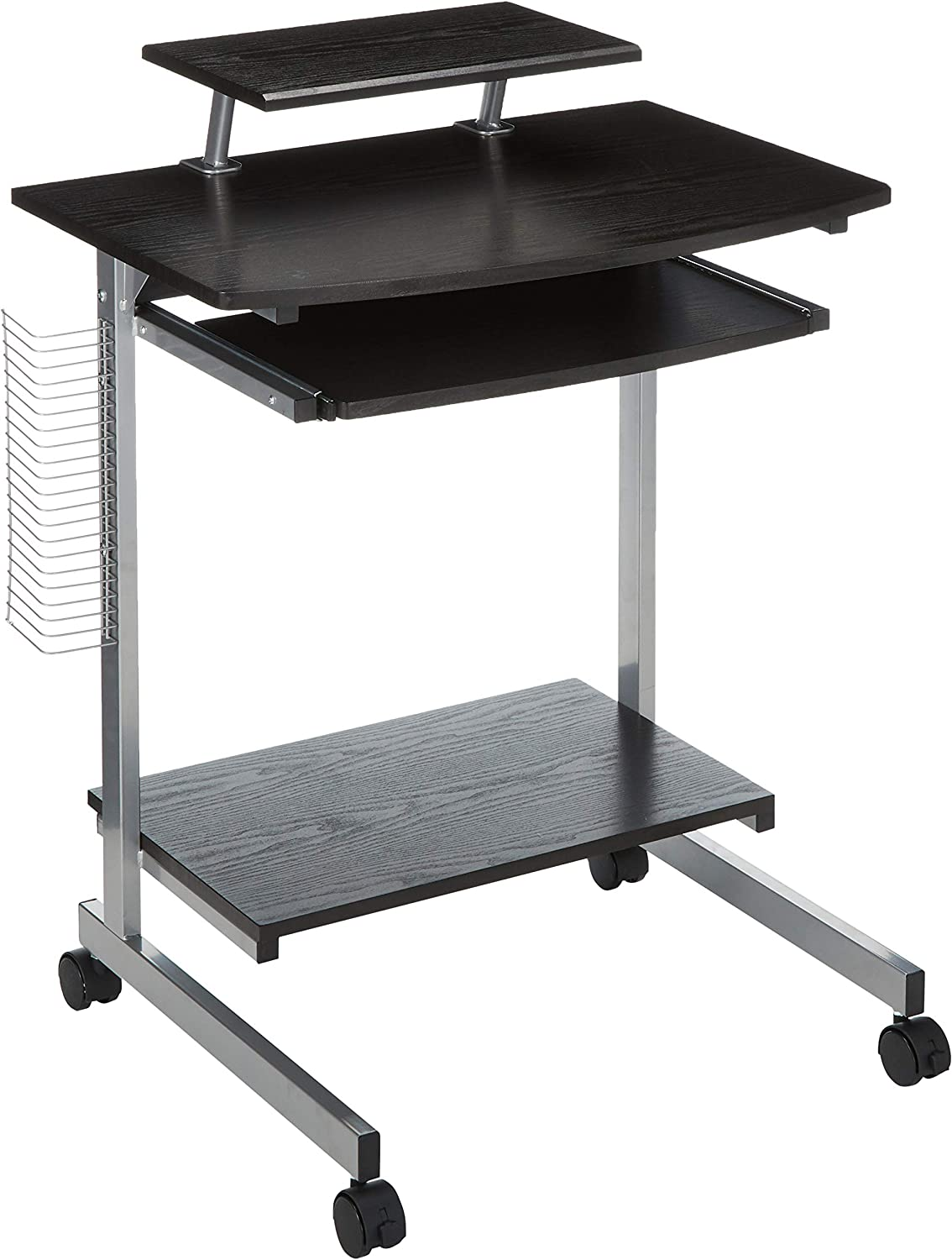Techni Mobili RTA-2018-ES18 Compact Computer Cart with Storage, Espresso