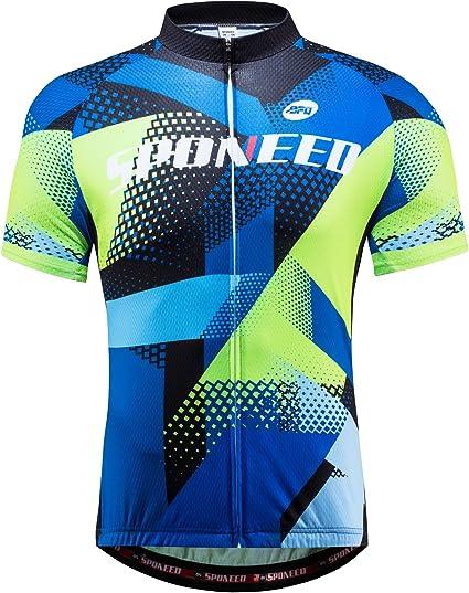 Men/'s Cycling Shirts Full Zip Long Sleeve Bike Cycle Jersey Tops Red-Black