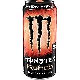 Monster Energy Rehab 桃子茶+能量,能量冰茶,15.5盎司/约440.4毫升(24件)