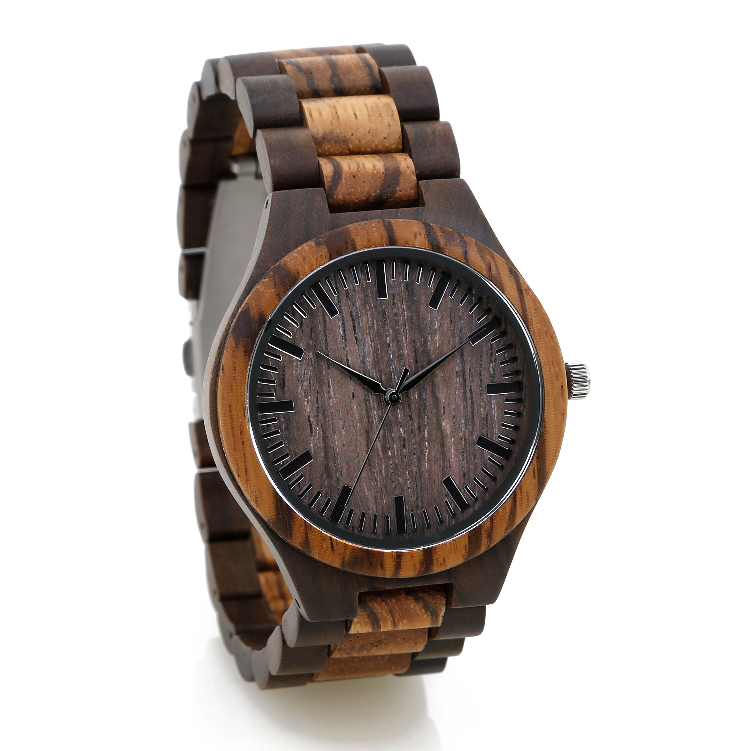 Personalized Engraved Wooden Watch Custom Wood Watch Fathers Day Gift Groomsman Gift Anniversary Wedding Gift Engraved All Natural Wood- Free Gift Box by Surf To Summit