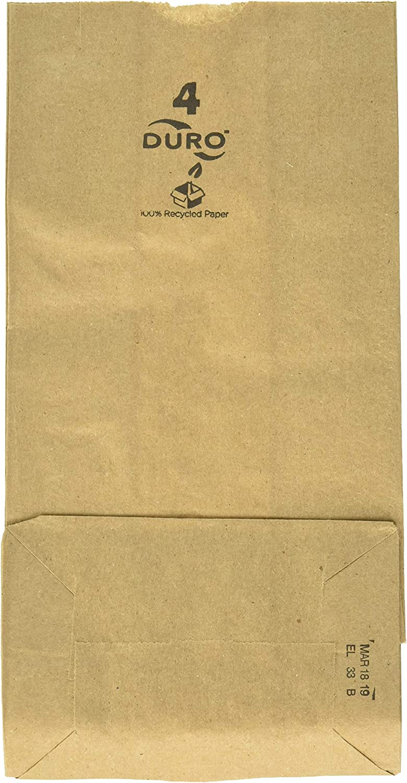 Paper Lunch Bags, Paper Grocery Bags, Durable Kraft Paper Bags, 4 Lb Capacity, Brown Pack of 500 Bags