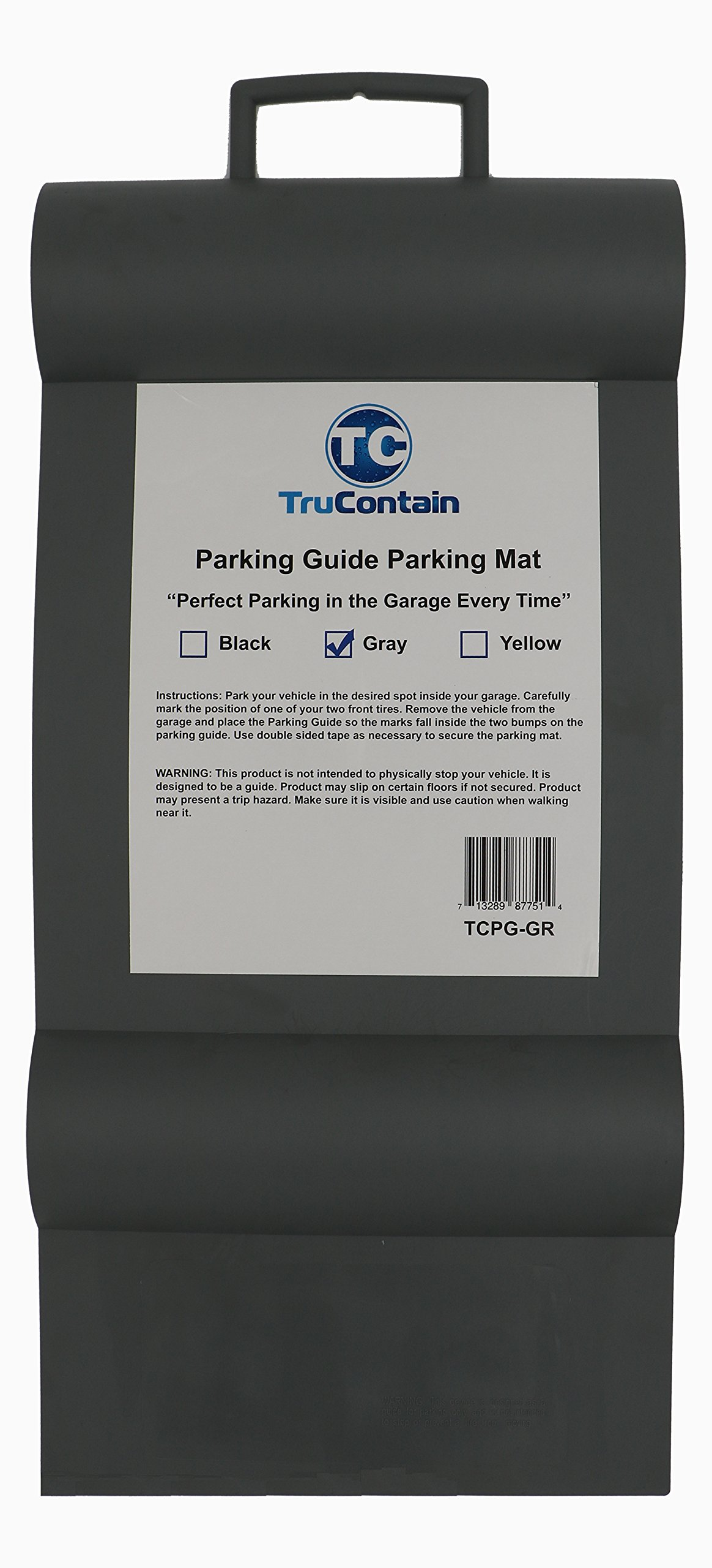 TruContain Parking Guide Parking Mat from (Gray)