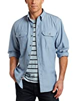 Carhartt Men's Big & Tall Fort Long Sleeve Shirt Lightweight Chambray Button Front Relaxed Fit S202