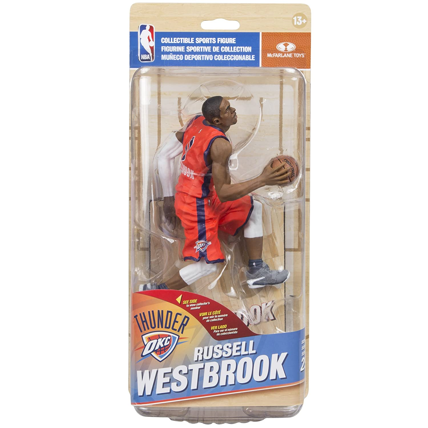 9efc209be39a Amazon.com  McFarlane Toys NBA Series 29 Russell Westbrook Oklahoma City  Thunder Collectible Action Figure  Toys   Games