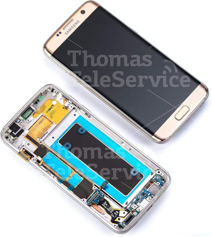 Samsung Galaxy GH97-18533C S7 Edge SM G935F unidad de visualización en oro: Amazon.es: Electrónica