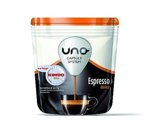 13 opinioni per Kimbo Capsule Uno Espresso Dolce (6 astucci da 16 capsule- totale 96 capsule)