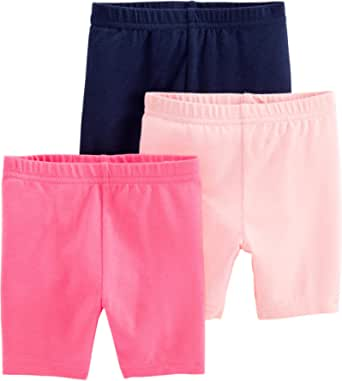 Simple Joys by Carter's Pantalones Cortos de Ciclismo Bebé-Niñas, Pack de 3