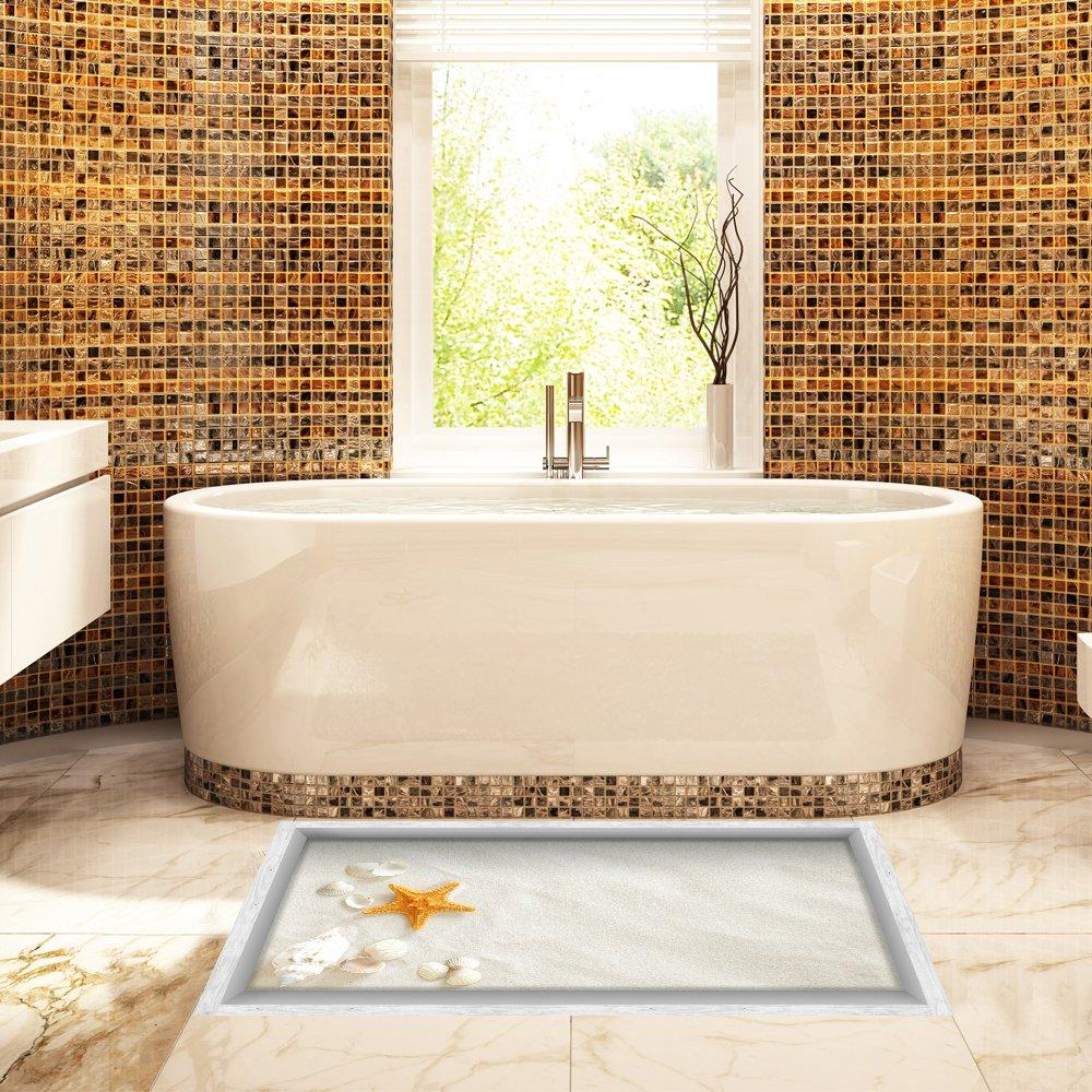 Amazon.com: H4S Bathroom Floor Stickers Non Slip Waterproof Shower ...