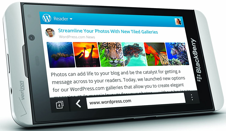 BlackBerry Z10, White 16GB (Verizon Wireless)