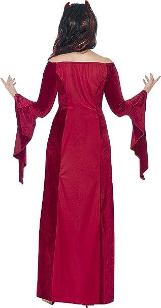 Smiffys - Disfraz Diablo con Vestido y Cuernos para Mujeres, Color ...